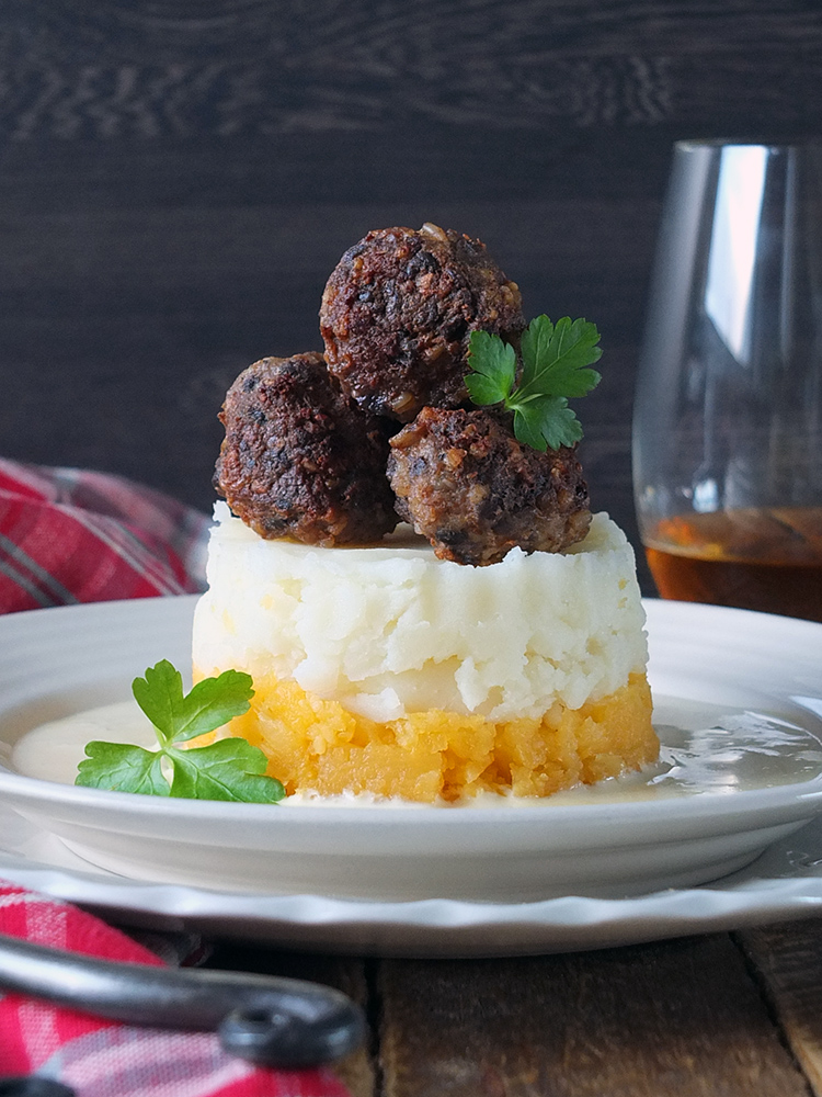 Lamb and Haggis Meatballs with Whisky Cream Sauce