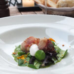 Pan-Seared Rabbit Loin Salad with Smoked Pancetta