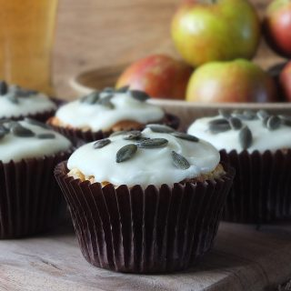 Apple and Ginger Muffins with Cider Frosting
