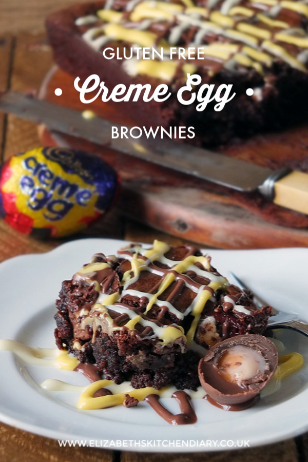 Gluten-free Creme Egg Easter Brownies #cremeegg #brownie #glutenfree #easter #chocolate