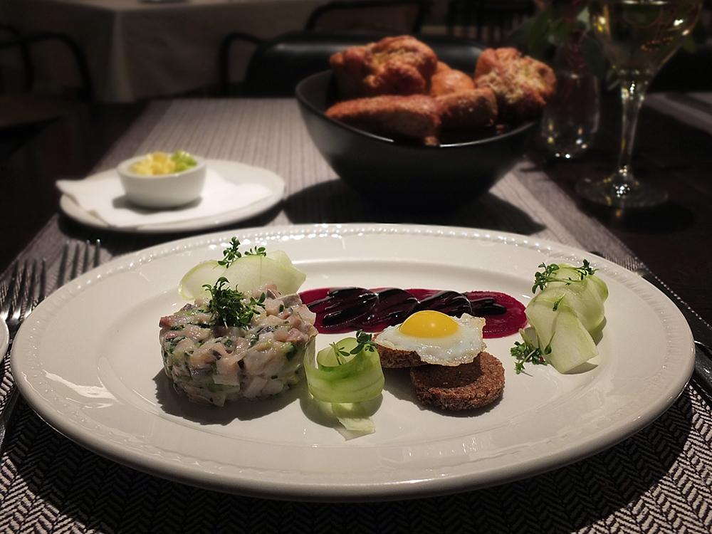 Neiburgs Restaurant, Riga - Starter: Baltic Herring Tartare