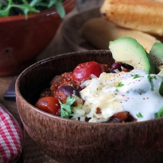 Quick and Easy Loaded Vegetarian Chilli Recipe