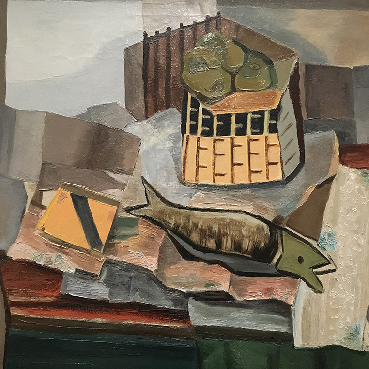 Still Life with Fish by Erasts Sveics 1928