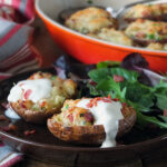 Twice-Baked Potatoes with Bacon and Soured Cream