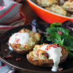 Twice-baked Potatoes with Bacon & Soured Cream