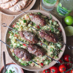 Grilled Lamb Skewers with Feta & Mint Inspired by Robinsons Fruit Cordial