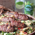 Grilled Lamb Skewers with Feta and Mint