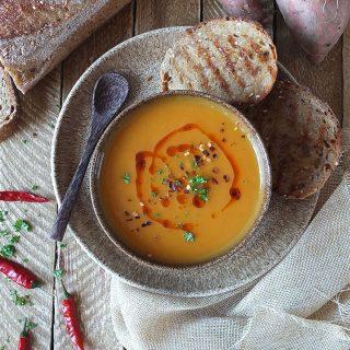 Sweet Potato and Chilli Soup Recipe