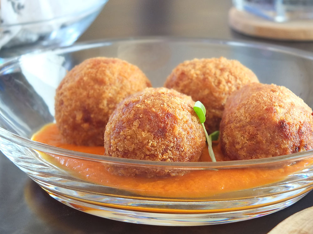Conch Croquettes with Creole Sauce at White Modern Cuisine, Aruba