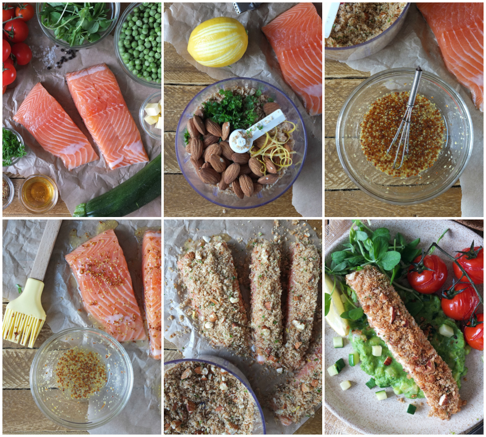How to Make Baked Nut Crusted Salmon