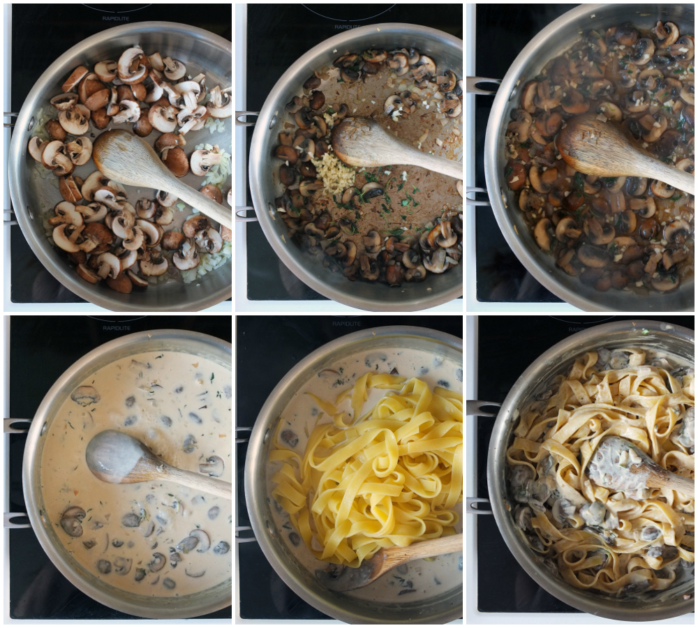 How to make creamy mushroom and white wine sauce step by step instructions