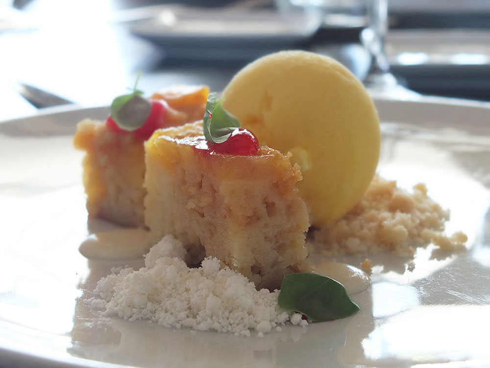 Pineapple Upsidedown Cake at White Modern Cuisine