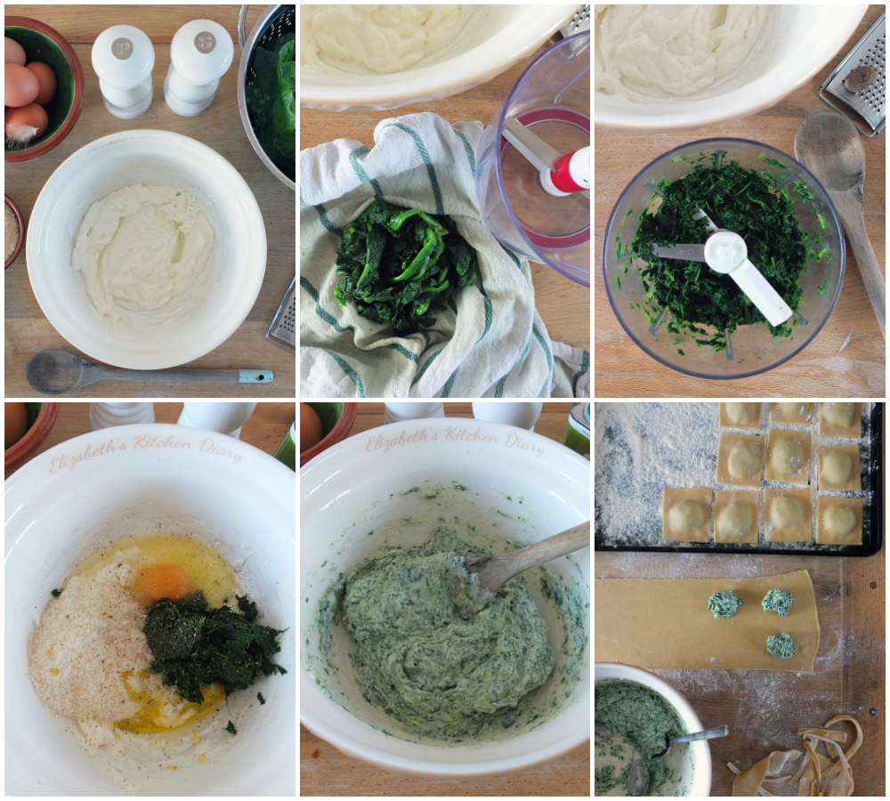 Spinach and Ricotta Ravioli Filling Step by Step Instructions