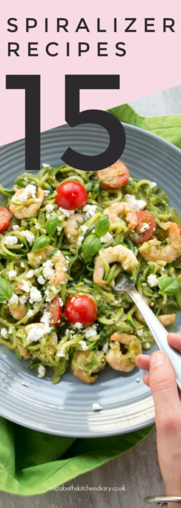 15 RECIPES YOU CAN MAKE WITH A VEGETABLE SPIRALIZER