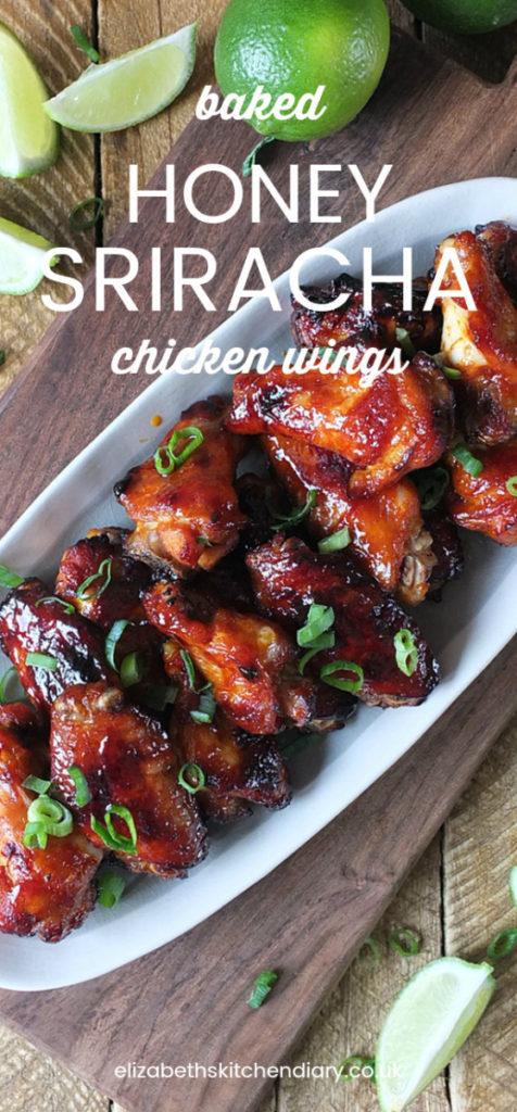 Baked Honey Sriracha Chicken Wings