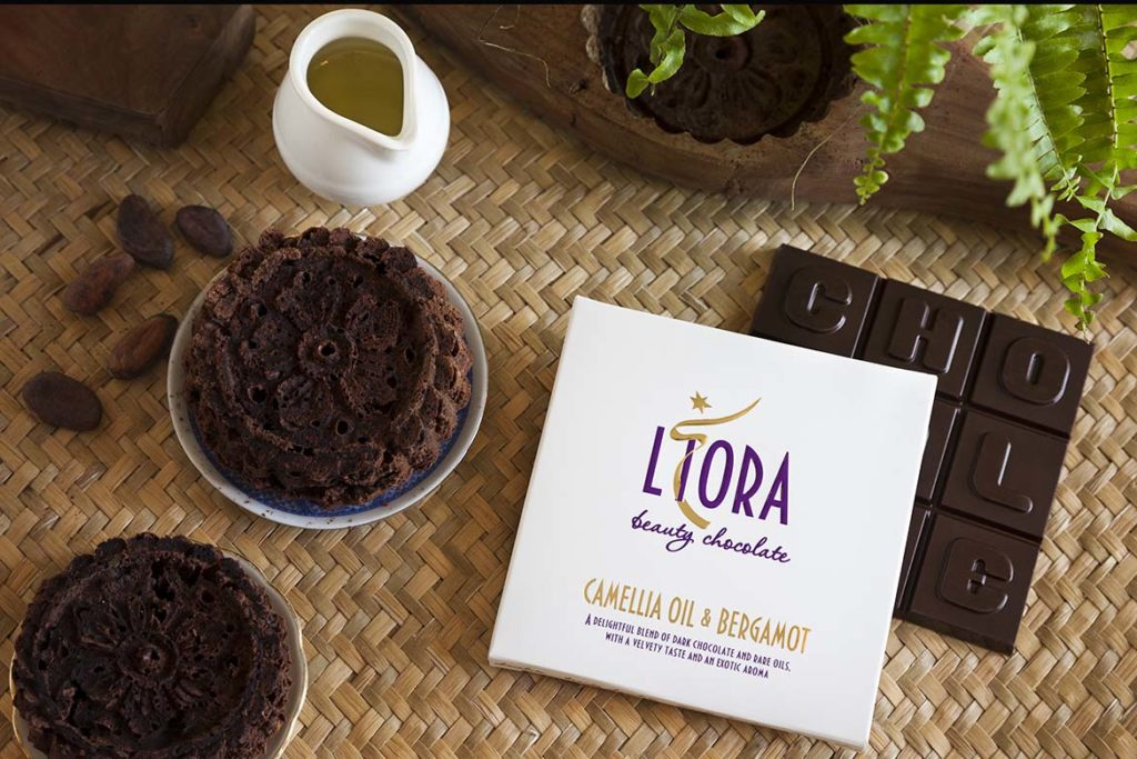 Liora Camellia Oil and Bergamot Beauty Chocolate