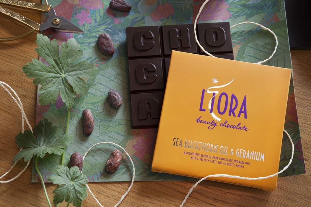 Liora Sea Buckthorn and Geranium Beauty Chocolate