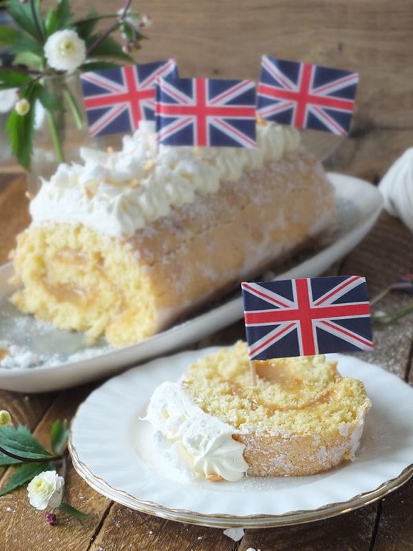 Royal Wedding Lemon & Elderflower Meringue Swiss Roll