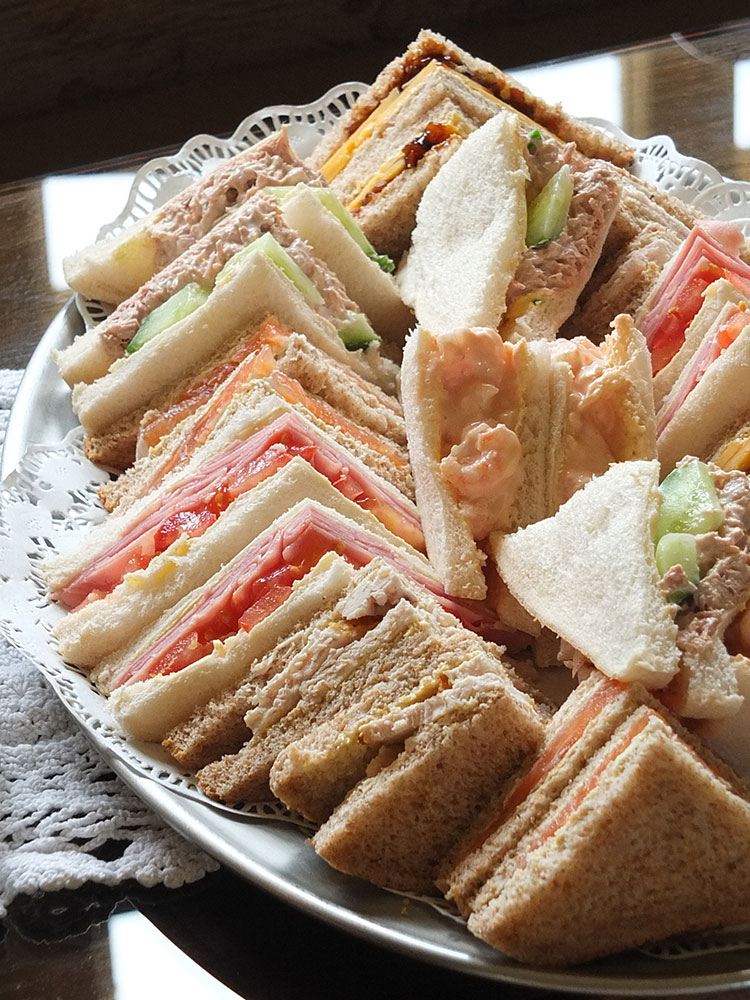 Busta House Brae, Shetland - sandwiches for Afternoon Tea