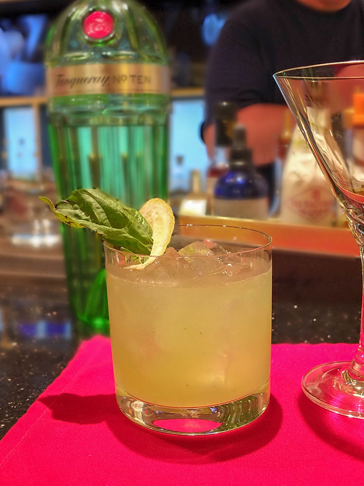 Gin Basil Smash Mixology Class Celebrity Equinox