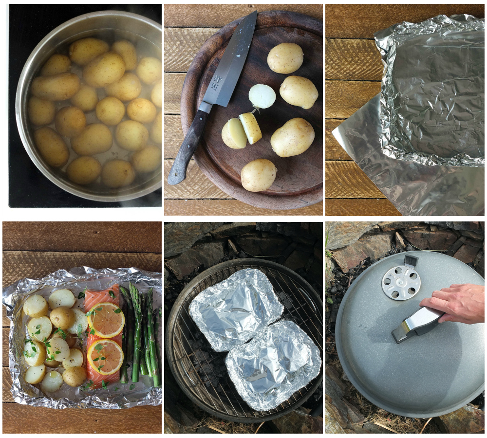 How to Make BBQ Salmon with Cornish New Potatoes