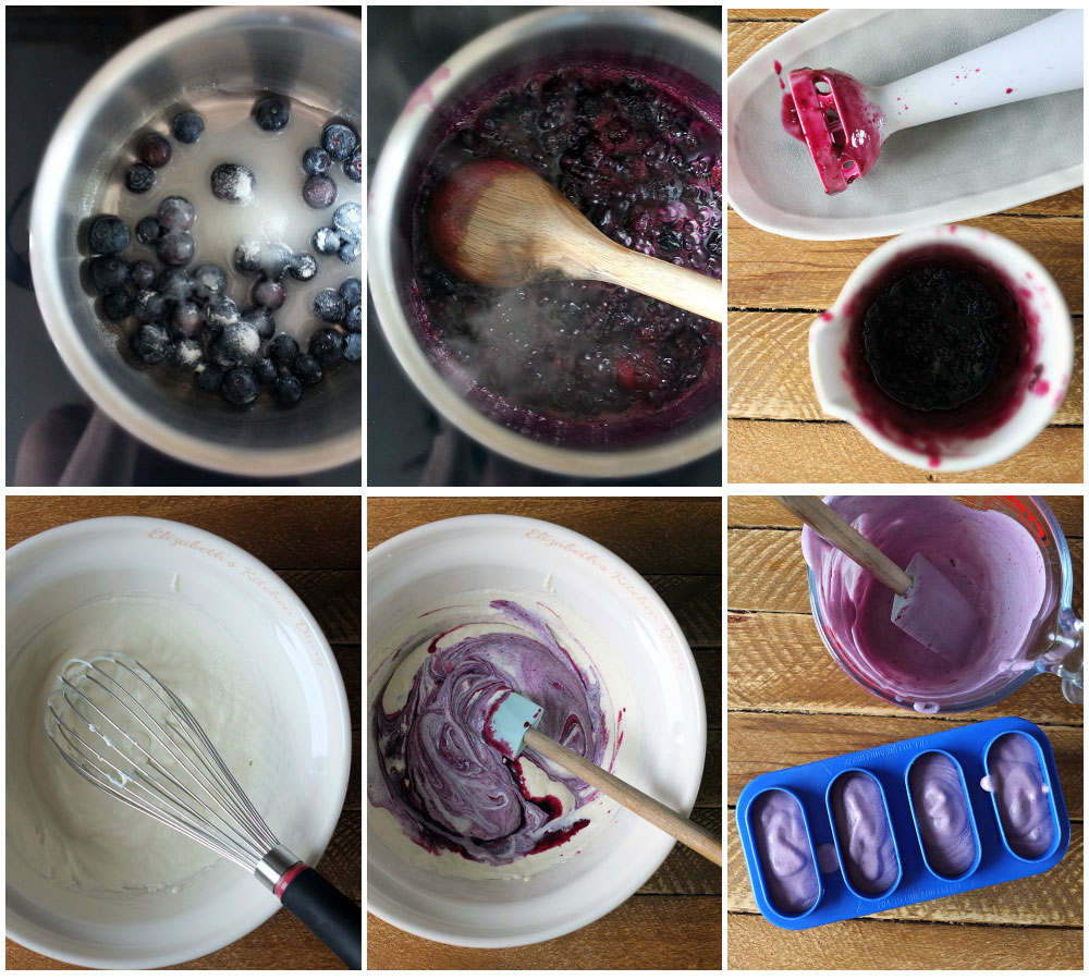 How to make blueberry and white chocolate ice cream popsicles