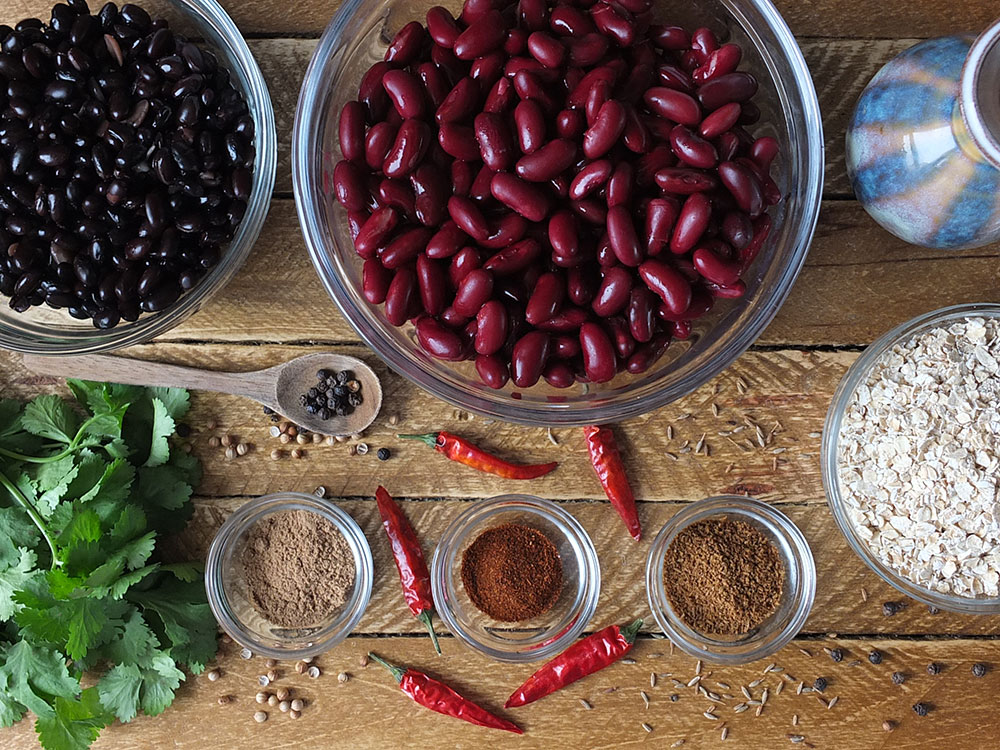 Ingredients for 10-Minute Vegan Bean Burgers
