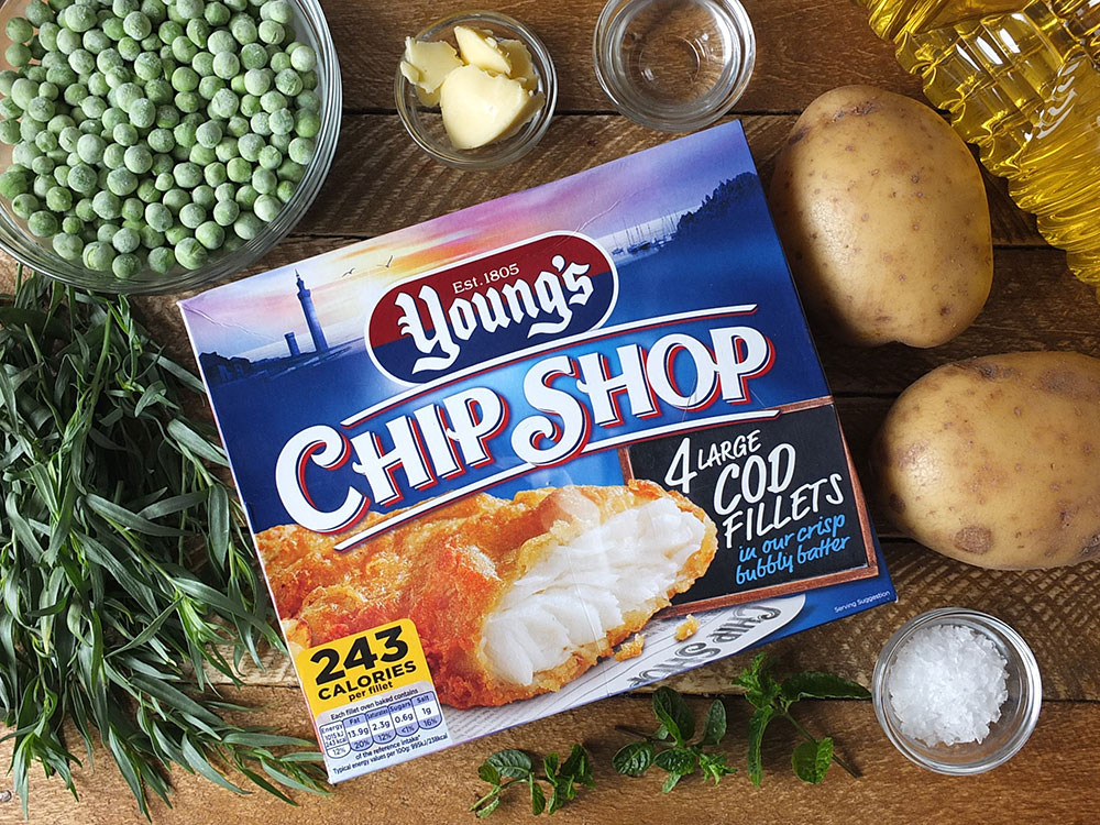 Ingrediedients for Young's Classic Fish & Chips Recipe