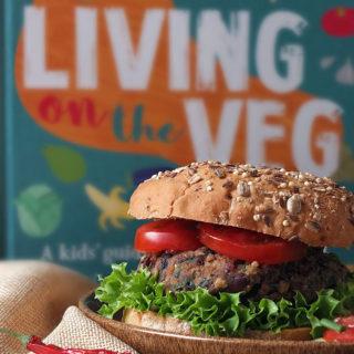 10 Minute Vegan Bean Burger Recipe from Living on the Veg