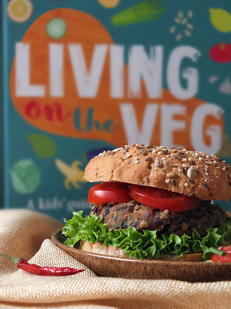 10 Minute Vegan Bean Burger Recipe from Living on the Veg