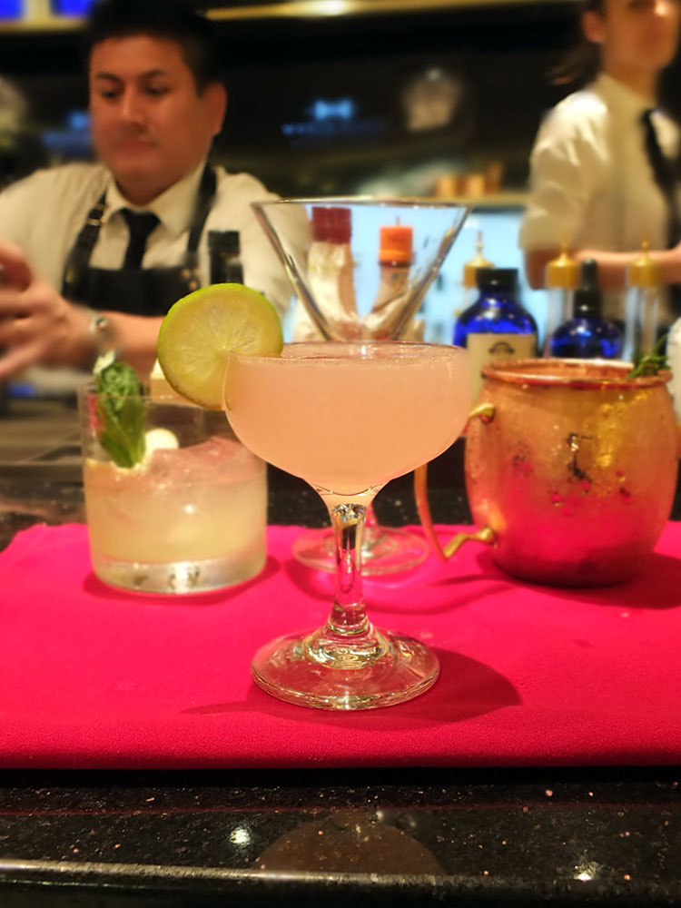 Rose Margarita - Mixology Class Celebrity Equinox