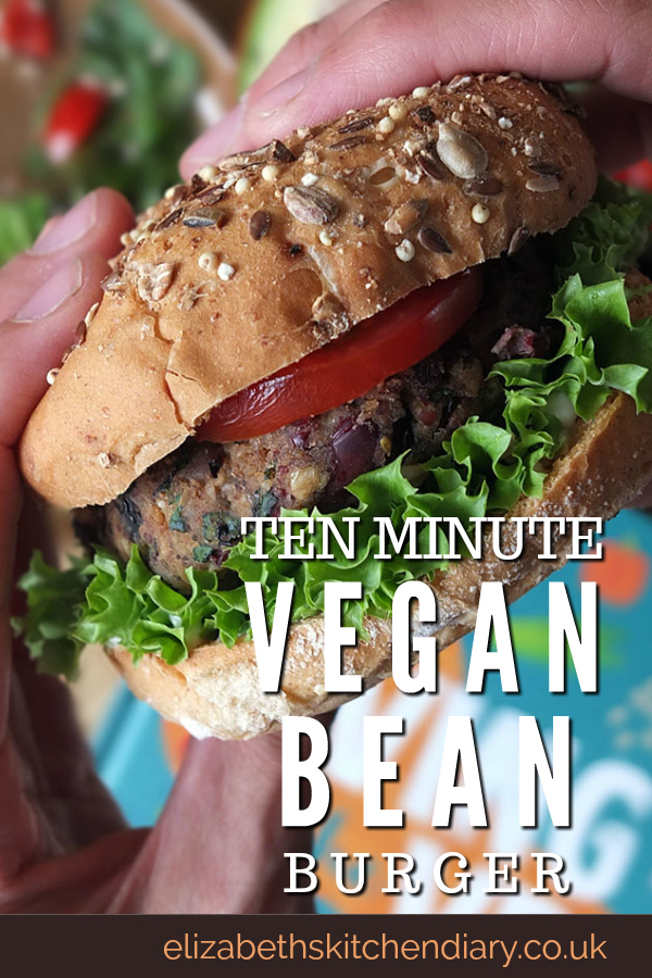 Ten Minute Vegan Bean Burger Recipe