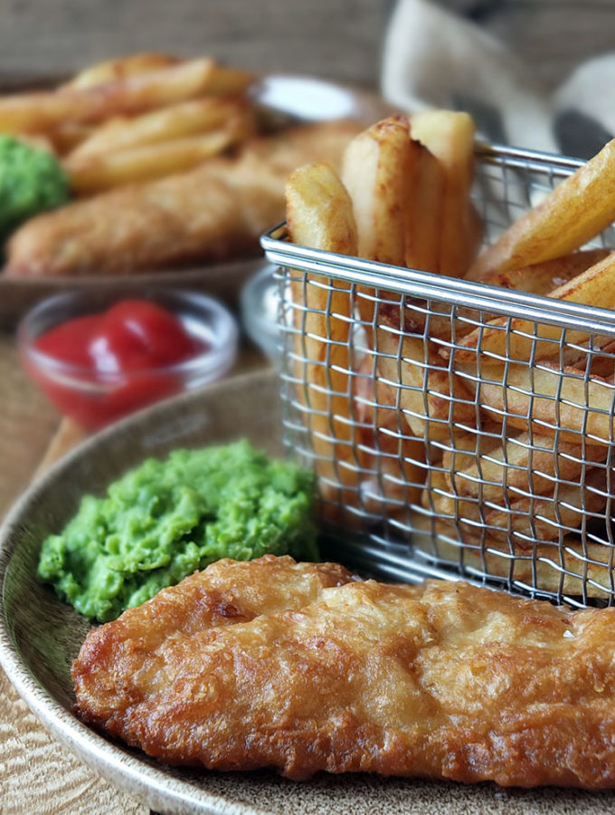 Young's Classic Fish & Chips with Twice-Cooked Chips and Mushy Peas