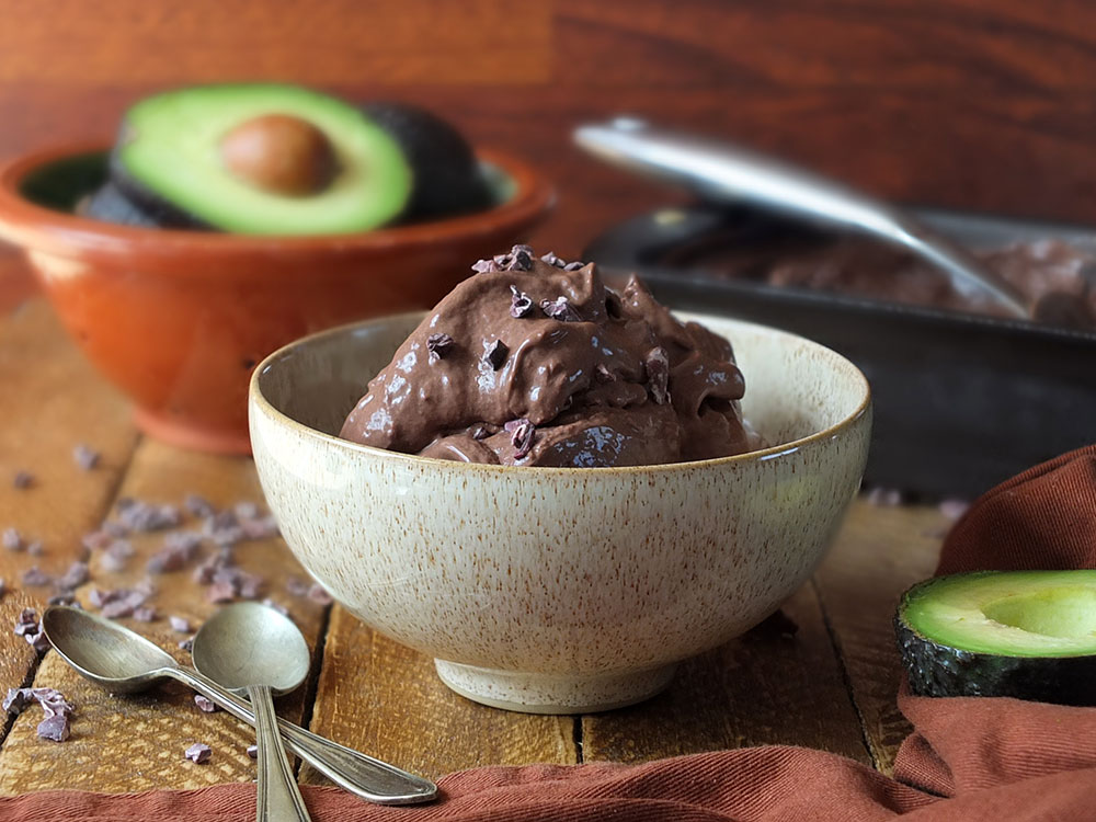 Vegan Chocolate Avocado Ice Cream