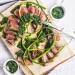 Salsa Verde Grilled Steak