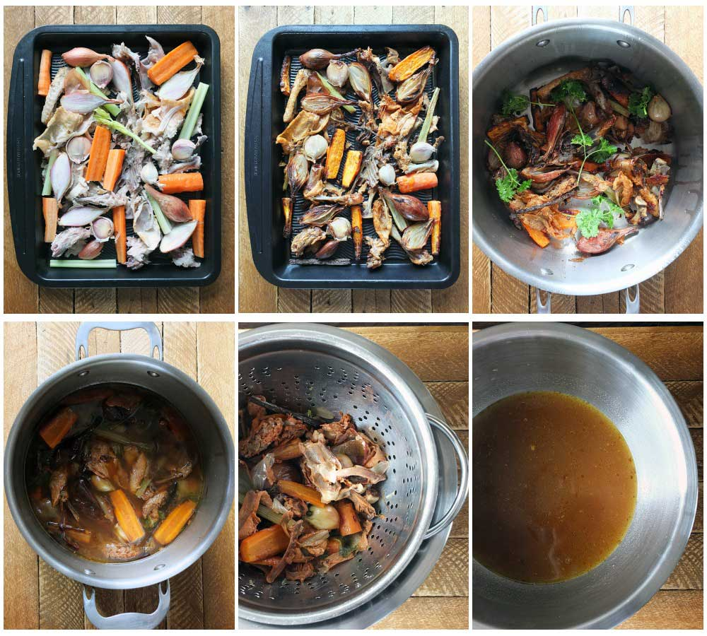 How to make nourishing bone broth step by step instructions