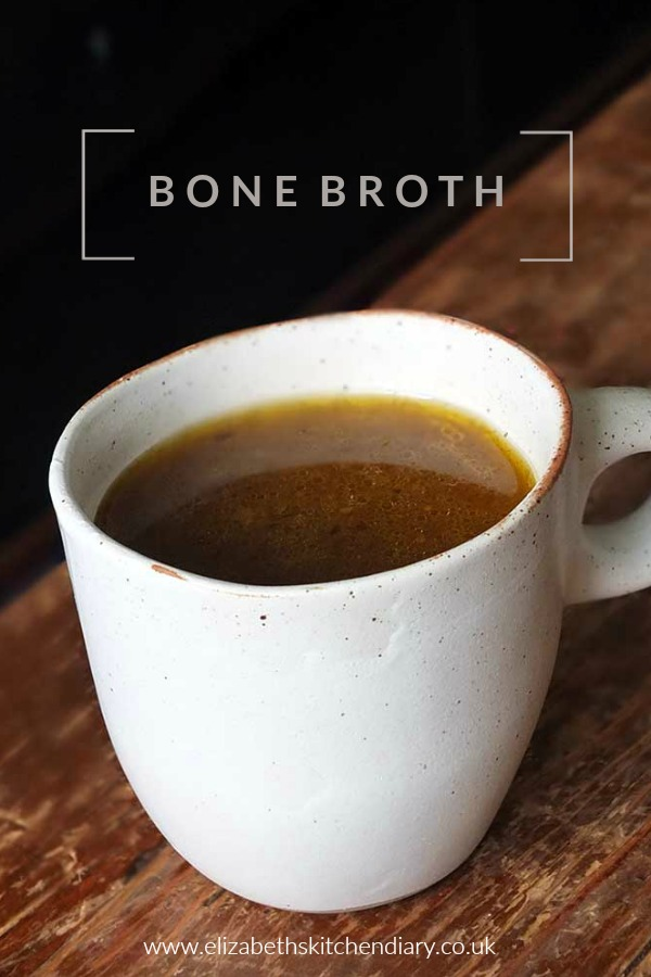 How to make nourishing bone broth from scratch #recipe #broth #chicken