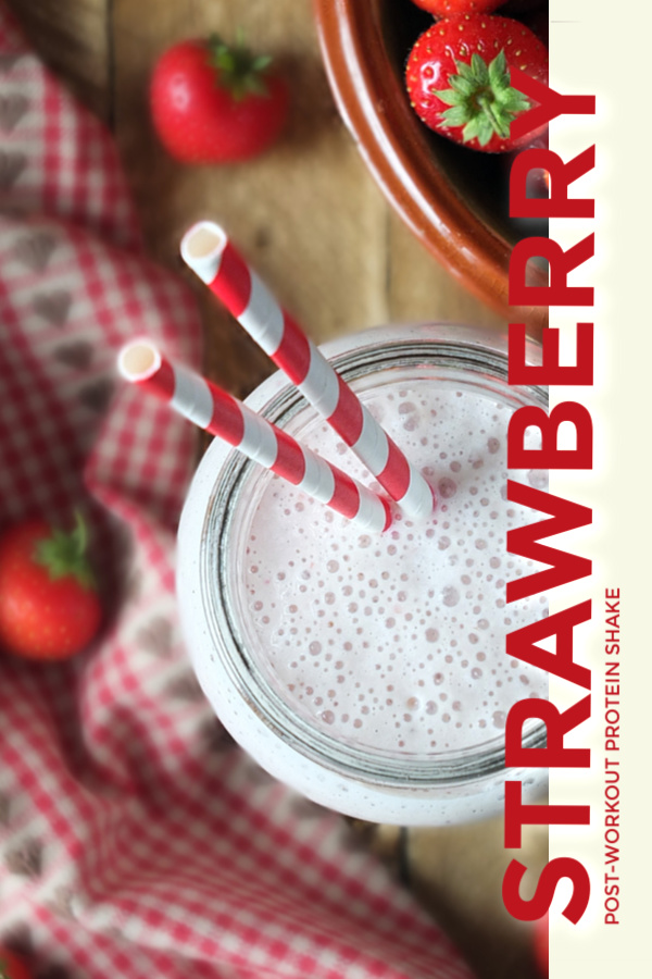 Strawberry Protein Shake #breakfast #smoothie #proteinshake #strawberry