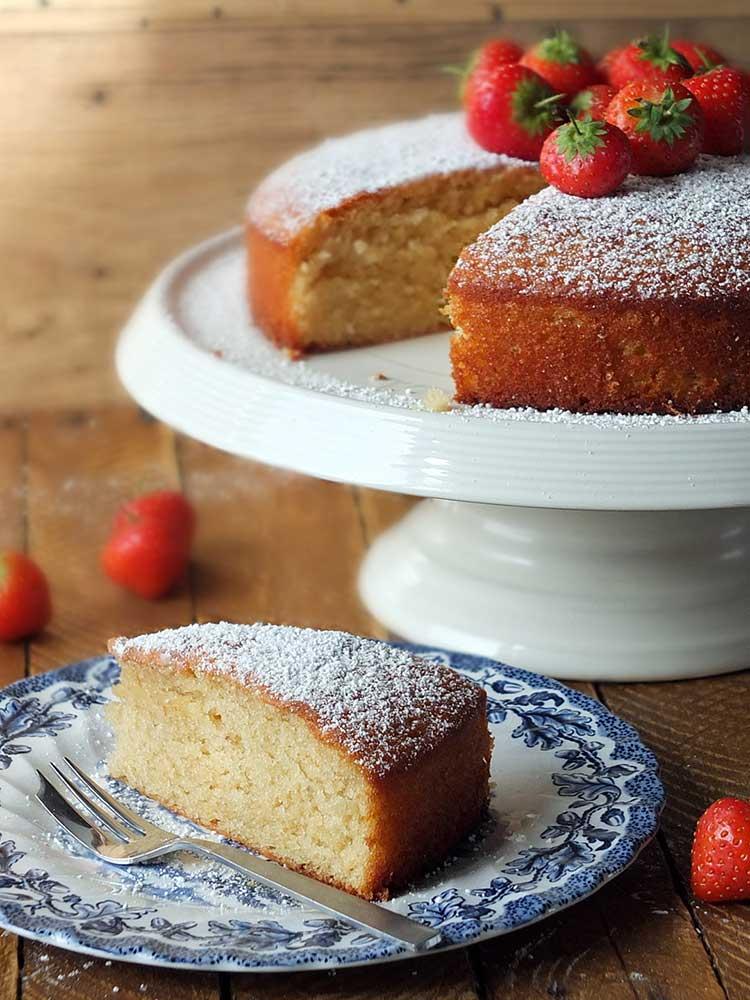 French-Style Strawberry Yogurt Cake