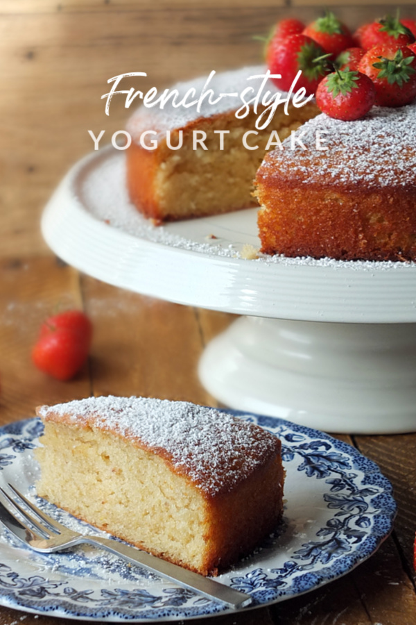 Use up that leftover yogurt in this quick and easy cake recipe! #yogurt #cake #baking