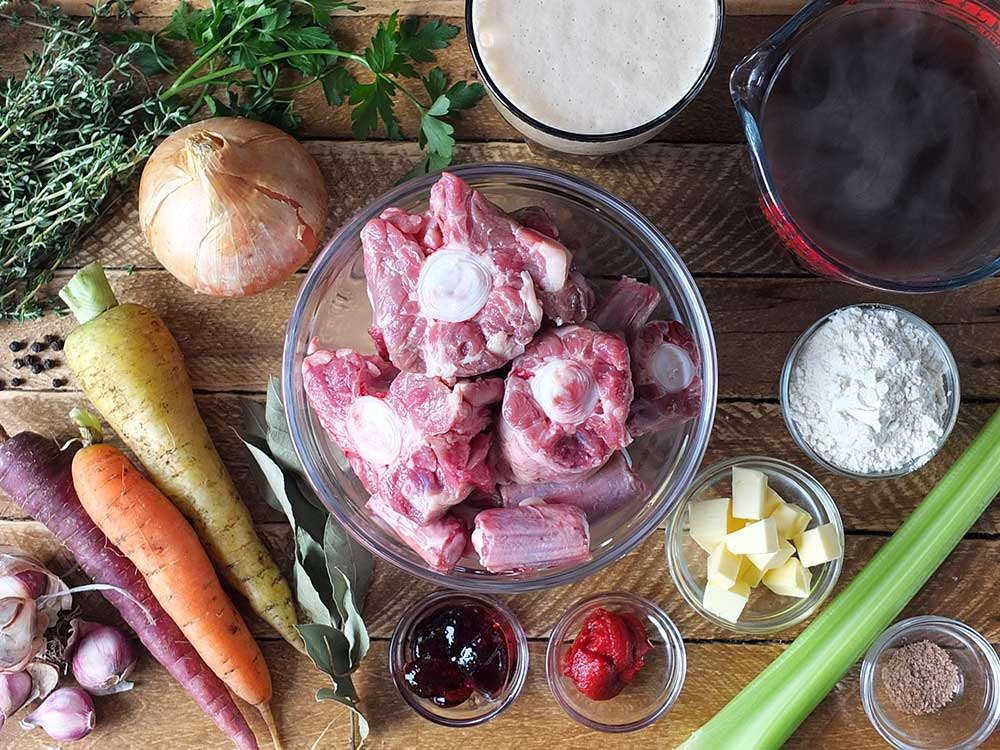 Ingredients for Oxtail Soup in the Slow Cooker