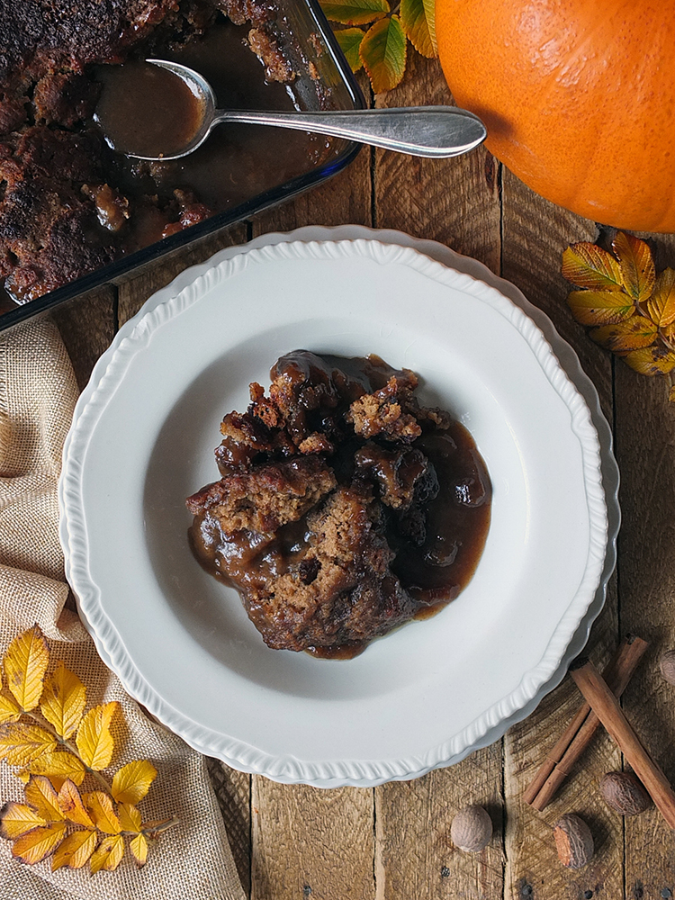 Pumpkin spiced sticky toffee pudding recipe