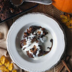 Pumpkin spiced sticky toffee pudding with cream recipe