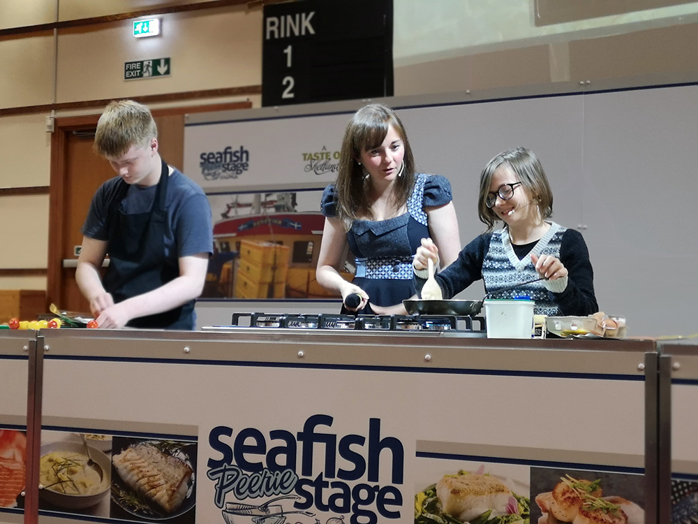 Shetland Food Fair Seafish Peerie Stage