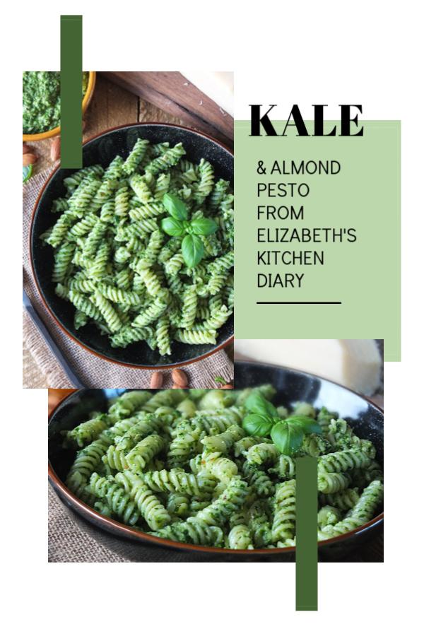 Kale & Almond Pesto #kale #almond #pesto #Parmesan #basil