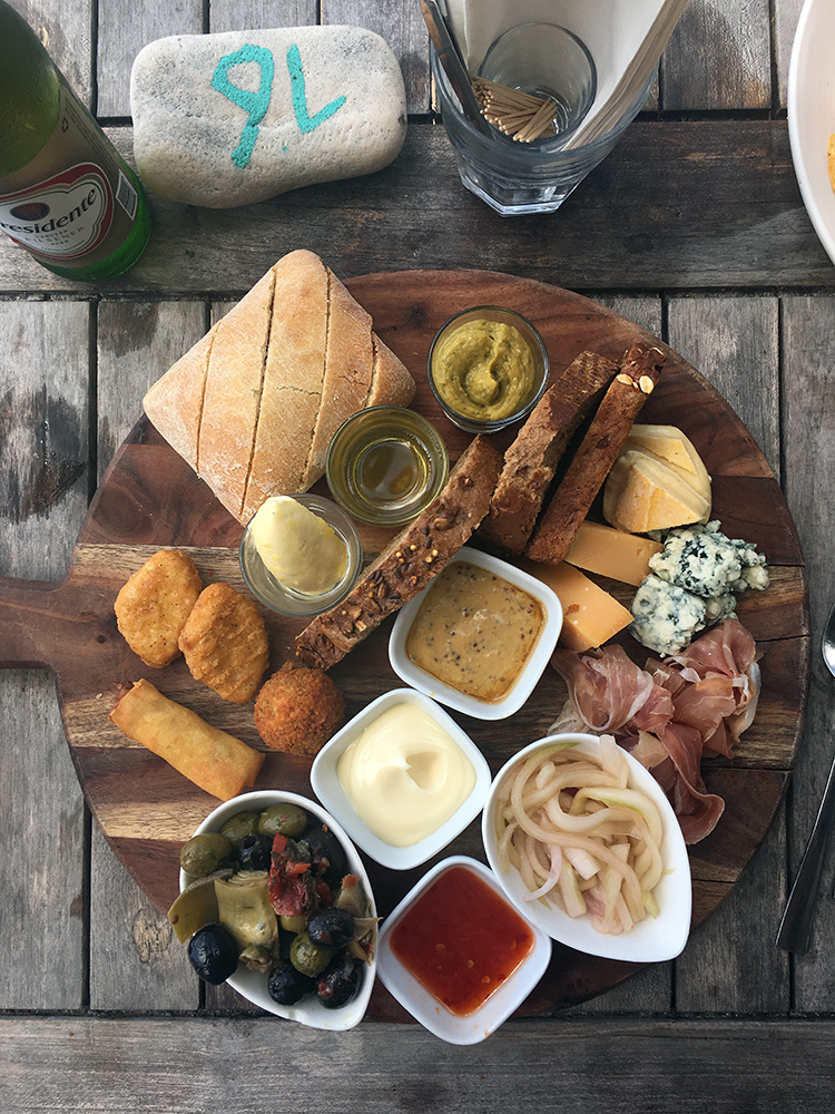 Scuba Lodge sharing platter for lunch