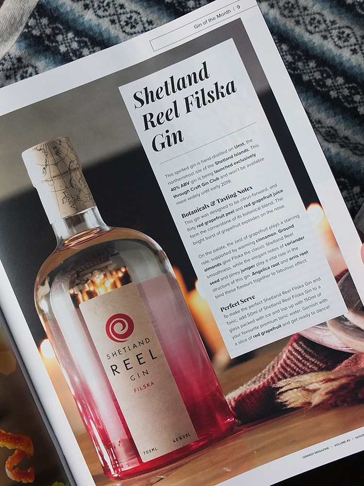 Shetland Reel Filska Gin Craft Gin Club Launch