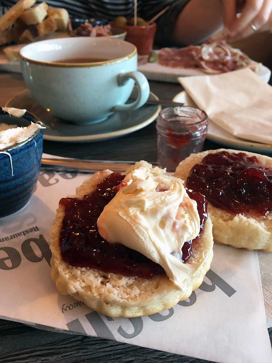 Cornish Cream Tea in St Ives Cornwall