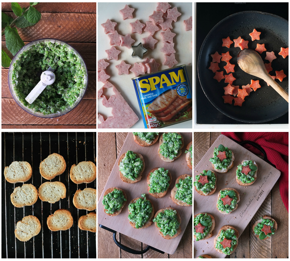 How to make Sizzling SPAM® Star Crostini