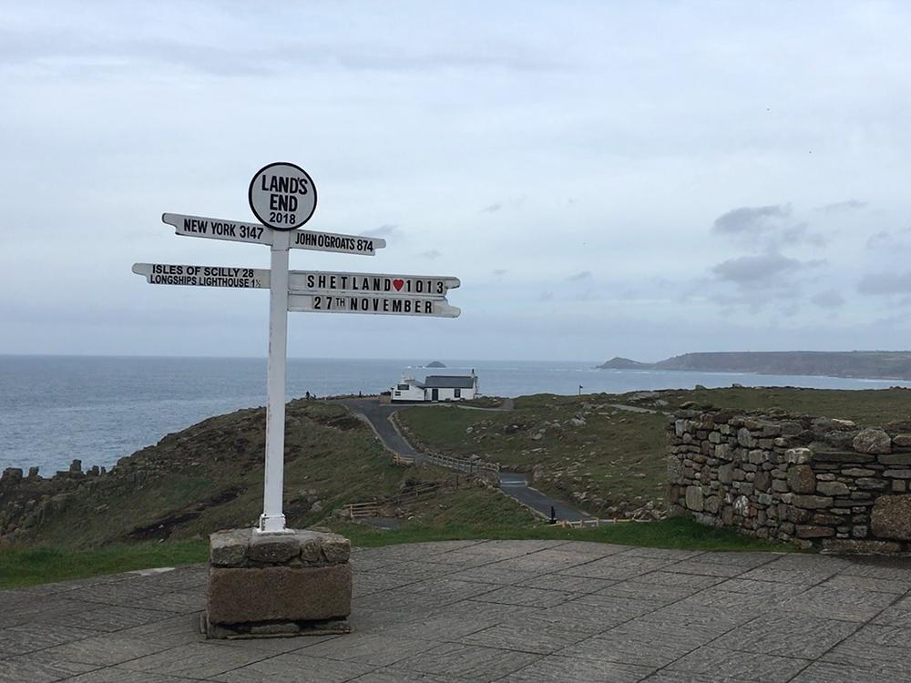 Lands End Signpost Shetland
